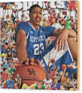 University Of Kentucky Anthony Davis, 2012 March Madness Sports Illustrated Cover Wood Print