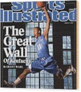 University Of Kentucky John Wall Sports Illustrated Cover Wood Print