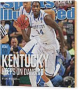 University Of Kentucky Michael Kidd-gilchrist, 2012 Ncaa Sports Illustrated Cover Wood Print