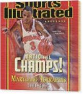 University Of Maryland Juan Dixon, 2002 Ncaa National Sports Illustrated Cover Wood Print