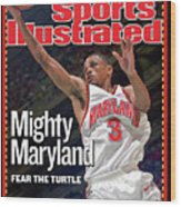 University Of Maryland Juan Dixon, 2002 Ncaa National Sports Illustrated Cover Wood Print