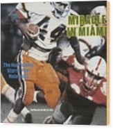 University Of Miami Keith Griffin, 1984 Orange Bowl Sports Illustrated Cover Wood Print