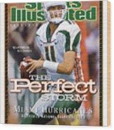 University Of Miami Qb Ken Dorsey, 2001 Ncaa National Sports Illustrated Cover Wood Print