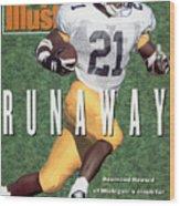 University Of Michigan Desmond Howard Sports Illustrated Cover Wood Print