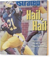 University Of Michigan Desmond Howard Sports Illustrated Cover Wood Print