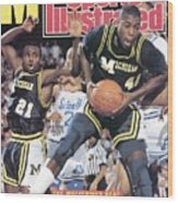 University Of Michigan Glen Rice, 1989 Ncaa National Sports Illustrated Cover Wood Print