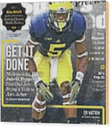 University Of Michigan Jabrill Peppers, 2016 College Sports Illustrated Cover Wood Print