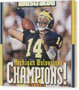 University Of Michigan Qb Brian Griese, 1997 Ncaa National Sports Illustrated Cover Wood Print