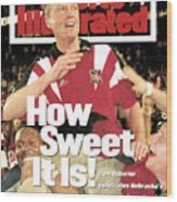 University Of Nebraska Coach Tom Osborne, 1995 Fedex Orange Sports Illustrated Cover Wood Print