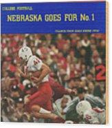University Of Nebraska Frank Solich, 1965 Cotton Bowl Sports Illustrated Cover Wood Print