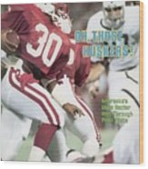 University Of Nebraska Mike Rozier, 1983 Kickoff Classic Sports Illustrated Cover Wood Print