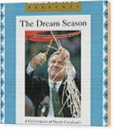 University Of North Carolina Coach Dean Smith, 1993 Ncaa Sports Illustrated Cover Wood Print