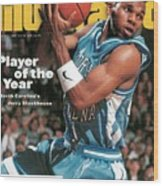 University Of North Carolina Jerry Stackhouse Sports Illustrated Cover Wood Print