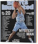 University Of North Carolina Rashad Mccants Sports Illustrated Cover Wood Print