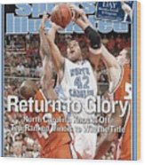 University Of North Carolina Sean May, 2005 Ncaa National Sports Illustrated Cover Wood Print