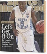 University Of North Carolina Ty Lawson, 2009 Ncaa South Sports Illustrated Cover Wood Print