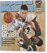 University Of North Carolina Tyler Hansbrough, 2009 Ncaa Sports Illustrated Cover Wood Print