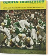 University Of Notre Dame Football Sports Illustrated Cover Wood Print