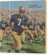 University Of Notre Dame Qb Johnny Huarte Sports Illustrated Cover Wood Print