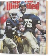 University Of Notre Dame Qb Tony Rice, 1989 Fiesta Bowl Sports Illustrated Cover Wood Print