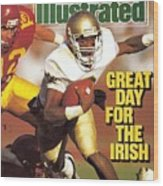 University Of Notre Dame Qb Tony Rice Sports Illustrated Cover Wood Print