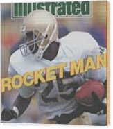 University Of Notre Dame Rocket Ismail Sports Illustrated Cover Wood Print