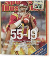 University Of Southern California 2004 Bcs National Sports Illustrated Cover Wood Print