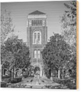 University Of Southern California Admin Building Wood Print