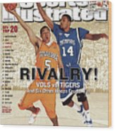 University Of Tennessee Chris Lofton And University Of Sports Illustrated Cover Wood Print