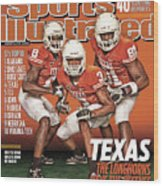 University Of Texas, 2010 College Football Preview Issue Sports Illustrated Cover Wood Print