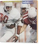 University Of Texas Earl Campbell Sports Illustrated Cover Wood Print