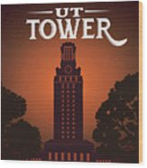 University Of Texas Tower Wood Print