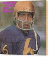 University Of Washington Qb Sonny Sixkiller Sports Illustrated Cover Wood Print