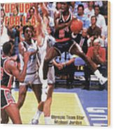 Up, Up For La 1984 Los Angeles Olympic Games Preview Issue Sports Illustrated Cover Wood Print