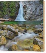 Uper Priest Falls And Cascade Wood Print