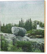 Upon This Rock Wood Print
