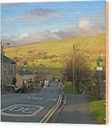 Upper Wensleydale From Hawes Yorkshire Dales National Park Wood Print