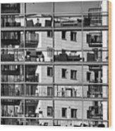 Urban City View, Urban Construction Wood Print