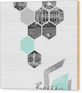Urban Design Boston Cityscapes Wood Print