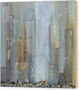 Urban Reflections I Night Version Wood Print