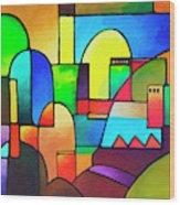 Urbanity 2 Wood Print