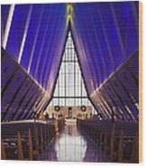 U.s. Air Force Academy, Cadets Chapel Wood Print