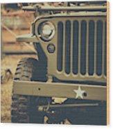 Us Army Jeep World War II Wood Print
