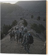 Us Army Searches For Militants In Wood Print