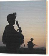 U.s. Marines Continue Suppression Wood Print