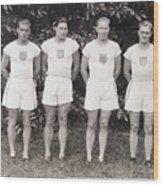 U.s. Olympic Decathlon Team Wood Print