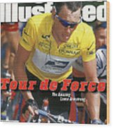 Us Postal Service Team Lance Armstrong, 2000 Tour De France Sports Illustrated Cover Wood Print