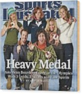 Us Snowboarding Medalists, 2006 Winter Olympics Sports Illustrated Cover Wood Print