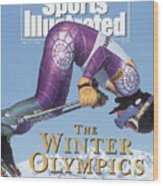 Usa A.j. Kitt, 1992 Albertville Olympic Games Preview Issue Sports Illustrated Cover Wood Print