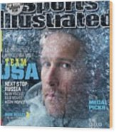 Usa Bode Miller, 2014 Sochi Olympic Games Preview Issue Sports Illustrated Cover Wood Print